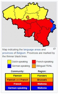Belgium Language Map